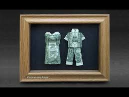 wedding gift or money wedding gift idea made with real money dollar origami