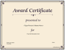 appealing business award certificate template with brown