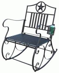 Metal Rocking Patio Chairs Metal Rocking Chair With Cup Holder 23 5 X 30 X 36 Home