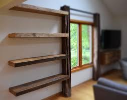 Reclaimed Wood Bookshelf Floating Reclaimed Wood Shelves Shelves Ideas