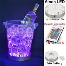 led light stand for crystal glass art kitosun 3aa battery powered remote controlled round rgb color