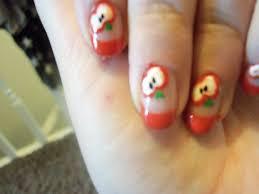 apple nail artnailnailsart apple nail art designnailnailsart