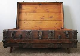 amusing vintage steamer trunk coffee table in diy home interior
