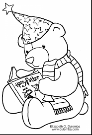 incredible coloring activity pages harry potter teddy bear page