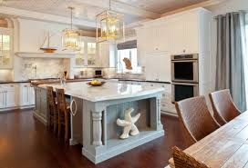 marble island kitchen appliances high class country kitchen idea with wooden dining