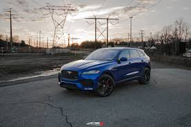 jaguar custom exotic transformation of blue jaguar f pace with custom