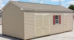 Pine Creek 12x24 Dutch Garage by 12x24 Vinyl Side Peak Shed In Hanover Pa Pine Creek Structures