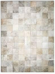 pure rugs patchwork cowhide park light brindle area rug u0026 reviews
