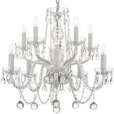 Glass Balls Chandelier 10 Light Venetian Style Crystal Chandelier With Faceted Crystal