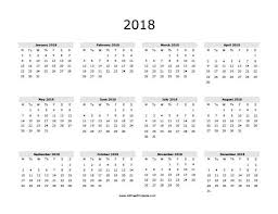 printable calendar year on one page free printable 2018 calendars roberto mattni co