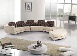 Circular Sectional Sofa Outstanding Selecting The Versatile And Unique Curved Sectional