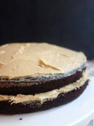 chocolate cake with peanut butter frosting a dash of ginger