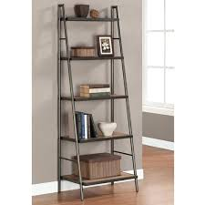Iron And Wood Bookcase Bookcase Iron Ladder Bookcase With Five Tier For Home Furniture