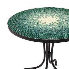 Mosaic Bistro Table Smith Reece Bistro Table In Green Mosaic Kmart