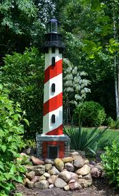 6 ft yard lighthouse made from leftover scrap wood and