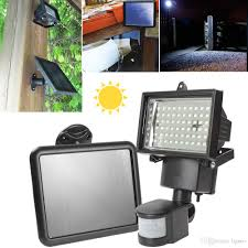 best solar flood light solar panel led flood security garden light pir motion sensor 60
