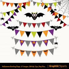 png halloween halloween bunting flags clip art