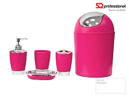 pink bathroom accessories modern interior design inspiration