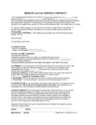 makeup contracts for weddings makeup artist contract sle fill online printable fillable