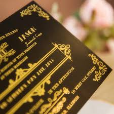 gatsby wedding invitations foil gold and black great gatsby wedding invitations ewfi023 as