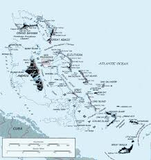 Caribbean Ocean Map by Map Of The Bahamas Depicts All Islands Of The Bahamas And