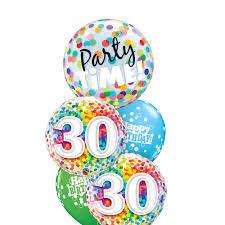 30th birthday balloon bouquets birthday balloons winnipeg