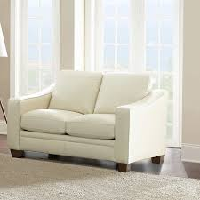 Beige Leather Loveseat Mansell Top Grain Leather Loveseat