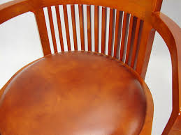 Leather Chair Cushions And Pads Decoration Ideas Splendid Dark Brown Wooden Barrel Chair With