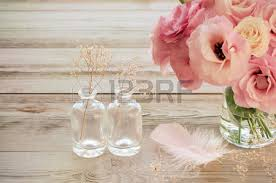 Wine Glass Flower Vase Gentle Flowers In A Glass Vase With Copy Space Vintage Style