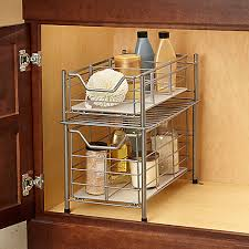 Organize Bathroom Cabinet by Kitchen U0026 Bathroom Cabinet Pull Out Drawer Organizers Bathroom