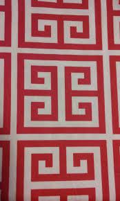 home decor fabric pink greek key fabric remnant premier