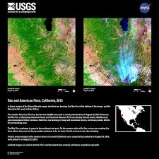 Wildfire Yosemite 2013 by Rim And American Fires California 2013 Earth Resources