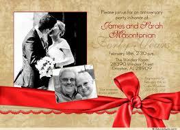 40th wedding anniversary party ideas wedding anniversary celebration card party invitation photo