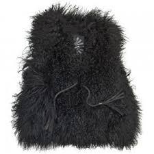amazon com ugg s black s marin ugg mongolian fur vest black size xs s at