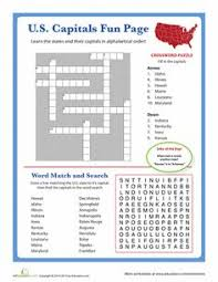 a fun crossword puzzle for u s geography social studies