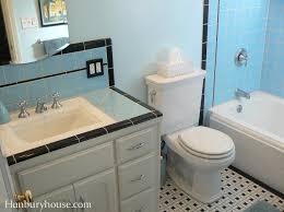1940s bathroom design retro black and blue tile bathroom at hanburyhouse com a