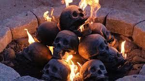 human skull fire logs u0026 fire pit youtube