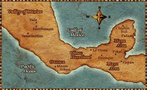 aztec map of mexico map of mexico labeled with aztec mayan cities yay finally