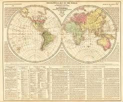 Geographical Map Map Of The World By Lavoisne 1821 Hjbmaps Com U2013 Hjbmaps Com