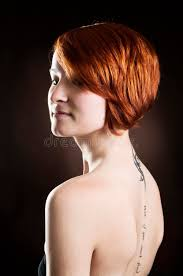 woman with short red hair royalty free stock photography image