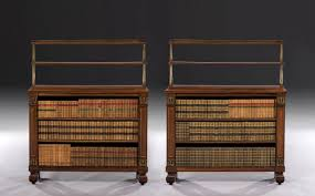 Brass Bookcase Pair Of Regency Rosewood Dwarf Bookcases With Gilt Ormolu And