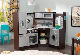 cuisine d enfants cuisine d angle en bois pour enfants toute équipée