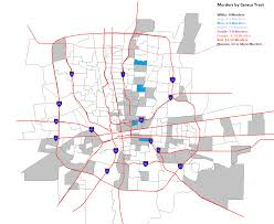 Columbus Zip Code Map by Columbus Area Murders By Census Tract 2008 2012 All Columbus