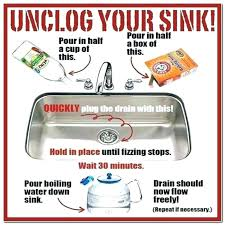 easy way to unclog a kitchen sink best way to unclog kitchen sink with medium size of to unclog