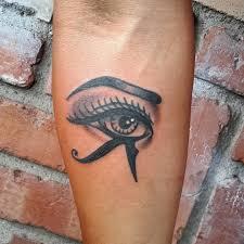 charming mystical ancient symbol the eye of horus forearm