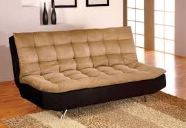 brown microfiber sofa bed mancora tan black pillow top microfiber sofa bed futon w chrome legs