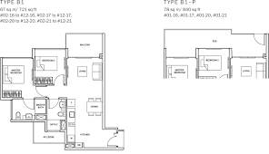 sq ft to sq m the glades condo floor plan u2013 2br suite u2013 b1 u2013 67 sqm 721 sqft b1