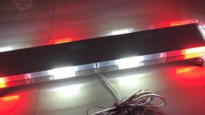 cob led light bar cob 22 module emergency light bar strobe warning lightbar 47 inch