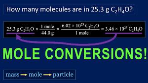 mole conversions tutorial how to convert mole mass mole