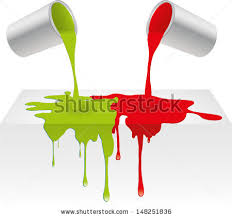 vector illustration red green color paint stock vector 148251836